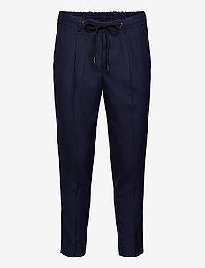 SLHSLIMTAPE-JAX NAVY CROP PANTS B - pantalons décontractés - navy blazer