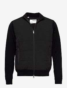 SLHKNIT HYBRID JKT G - bomber jakke - black