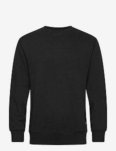 SLHJASON340 CREW NECK SWEAT S NOOS - oberteile - black