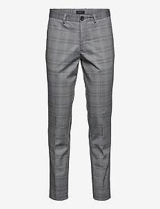 SLHSLIM-AIDEN AOP PANTS B - formele broeken - grey