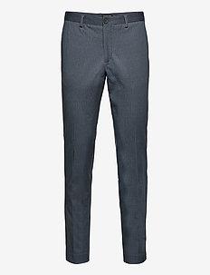 SLHSLIM-AIDEN AOP PANTS B NOOS - puvunhousut - navy blazer
