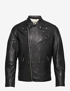 SLHICONIC BIKER LEATHER JKT W - leren jassen - black