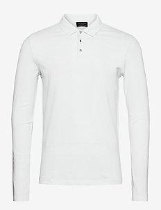 SLHDEAN LS POLO B EX - lange mouwen - bright white