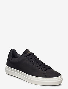 SLHDAVID CHUNKY CLEAN  NUBUCK TRAINER W - baskets basses - black
