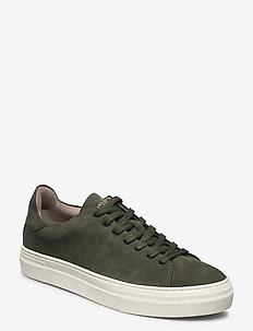 SLHDAVID CHUNKY CLEAN  NUBUCK TRAINER W - lav ankel - grape leaf