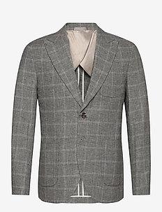 SLHSLIM-DEVIN BLZ B - single breasted blazers - grey