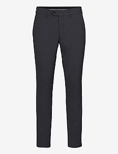SLHSLIM-CARLO FLEX STRUC PANTS B - chino's - medium grey melange
