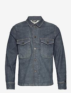 SLHANDY 6264 DARK BLUE DENIM JACKET U - spijkerjassen - dark blue denim
