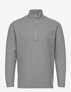 SLHRELAXDREW LS HIGH NECK SWEAT G - Överdelar - light grey melange