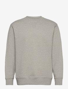 SLHJASON340 CREW NECK SWEAT S - kläder - light grey melange
