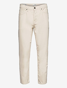 SLHRELAXCROP-ALDO 4056 ECRU DNM JEANS U - relaxed jeans - egret