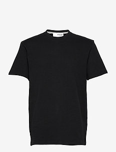 SLHRELAXALFRED SS O-NECK SWEAT W - t-shirts basiques - black