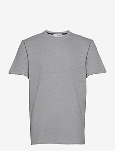 SLHRELAXALFRED SS O-NECK SWEAT W - t-shirts basiques - grey