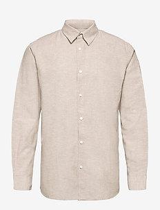 SLHSLIMNEW-LINEN SHIRT LS CLASSIC W - chemises à carreaux - crockery