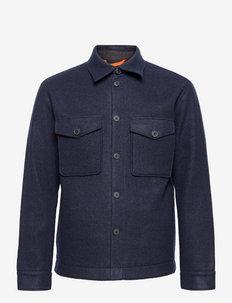 SLHSUST. ICONICS LUMBER JKT - kleding - navy blazer