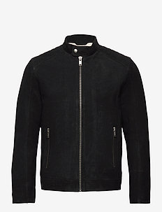 SLHICONIC RACER SUEDE JKT W - leather jackets - black