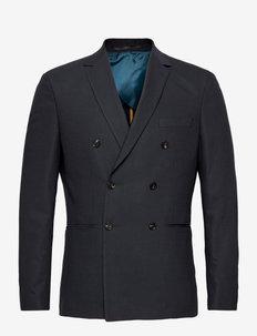 SLHSLIM-WILL DB DARK BLUE STRUC BLZ B - single breasted blazers - dark blue