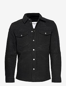 SLHMILO SUEDE JKT W EX - tops - black