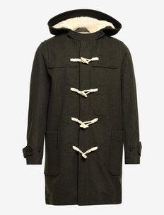 SLHEINFIELD DUFFLE COAT W - wełniane płaszcze - olive night
