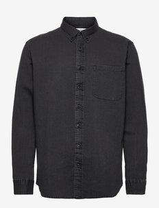 SLHREGRICK-DENIM SHIRT LS U - basic overhemden - light grey denim