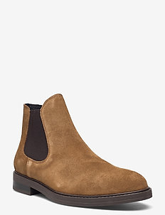 SLHBLAKE SUEDE CHELSEAOOT - chelsea boots - tobacco brown