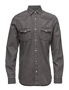 SHXONEMARLON SHIRT LS - GREY