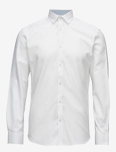 SLHSLIMNEW-MARK SHIRT LS B - hørskjorter - bright white