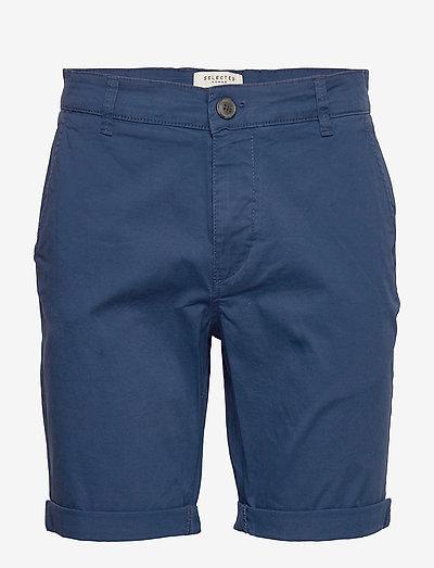 SLHSTRAIGHT-PARIS SHORTS W - chinos shorts - estate blue
