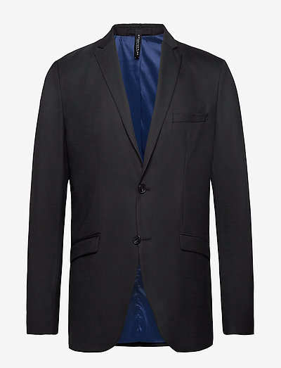 SLHSLIM-MYLOSTATE FLEX BLACK BLZ B - blazers à boutonnage simple - black
