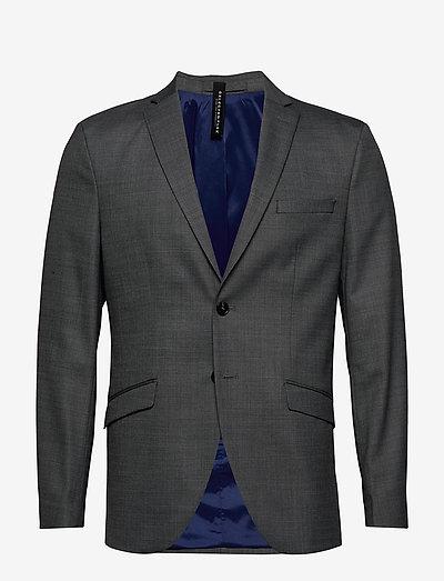 SLHSLIM-MYLOSTATE FLEX GR STR BLZ B - blazers à boutonnage simple - grey