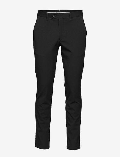 SLHSLIM-CARLO FLEX PANTS B - suit trousers - black
