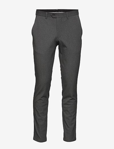 SLHSLIM-CARLO FLEX PANTS B - suit trousers - grey melange