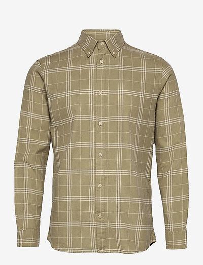 SLHSLIMFLANNEL SHIRT LS - koszule w kratkę - aloe