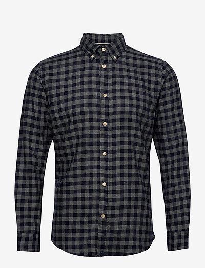 SLHSLIMFLANNEL SHIRT LS - koszule w kratkę - dark blue