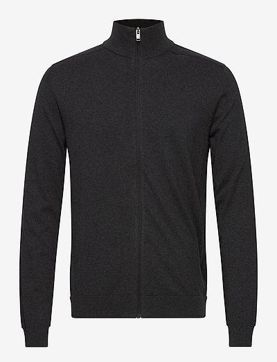 SLHBERG FULL ZIP CARDIGAN B - podstawowa odzież z dzianiny - antracit