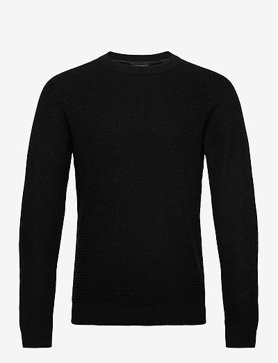 SLHCORNELIUS STRUCTURE CREW NECK W - tricots basiques - black