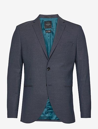 SLHSLIM-MAZELOGAN BLUE STRUC BLZ B - blazers à boutonnage simple - medium blue melange
