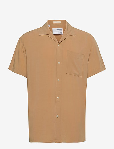SLHREGKARLSSON SHIRT SS  W - chemises à carreaux - iced coffee