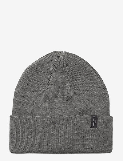 SLHLOYD COTTONEANIE - czapka - medium grey melange