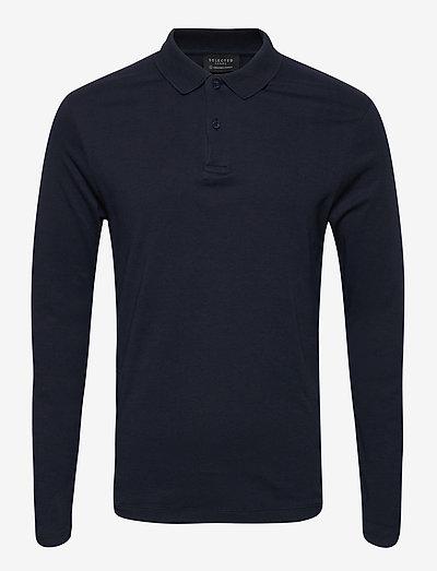 SLHPARIS LS POLO B - polo shirts - dark sapphire