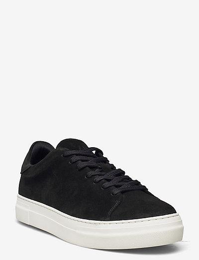 SLHDAVID CHUNKY CLEAN  SUEDE TRAINER B - laag sneakers - black