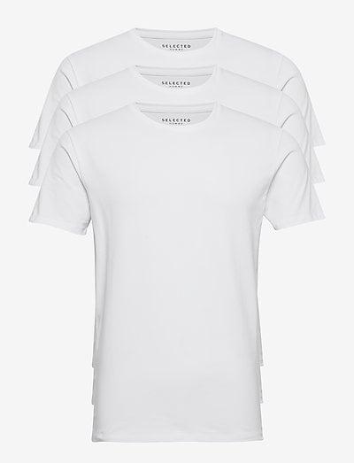SLHNEWPIMA SS O-NECK TEE B 3 PACK - t-shirts basiques - bright white