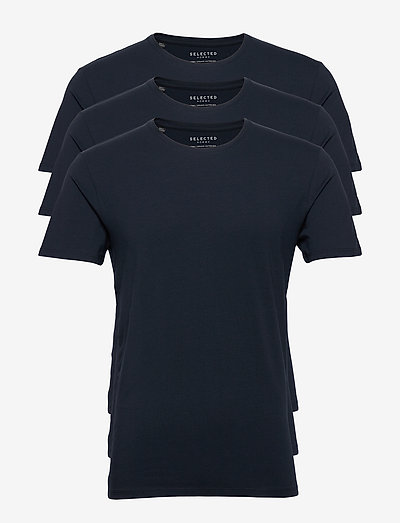 SLHNEWPIMA SS O-NECK TEE B 3 PACK - t-shirts - navy blazer