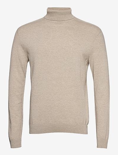SLHBERG ROLL NECK B - podstawowa odzież z dzianiny - oatmeal