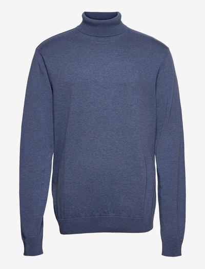 SLHBERG ROLL NECK B - podstawowa odzież z dzianiny - vintage indigo