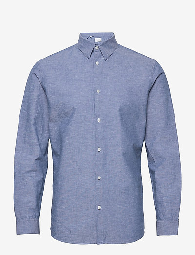 SLHSLIMNEW-LINEN SHIRT LS W - chemises de lin - medium blue denim