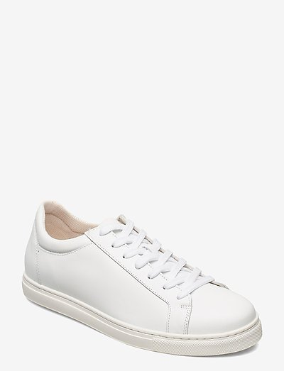 SLHEVAN LEATHER TRAINER - baskets basses - white