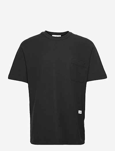 SLHRELAXALBION SS O-NECK TEE G - podstawowe koszulki - black
