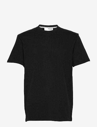 SLHRELAXALFRED SS O-NECK SWEAT W - basic t-shirts - black