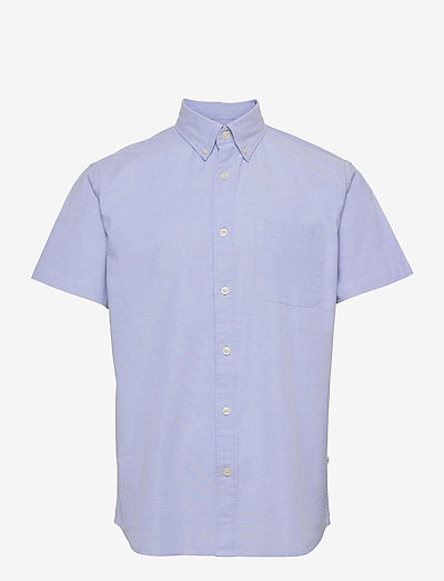 SLHREGRICK-OX FLEX SHIRT SS S - checkered shirts - light blue